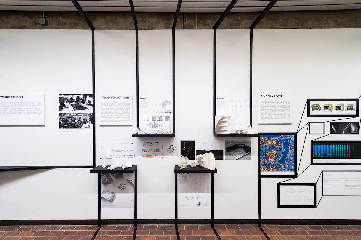 Transformations + Connections:  Harvard Undergraduate Architecture Studies studio projects